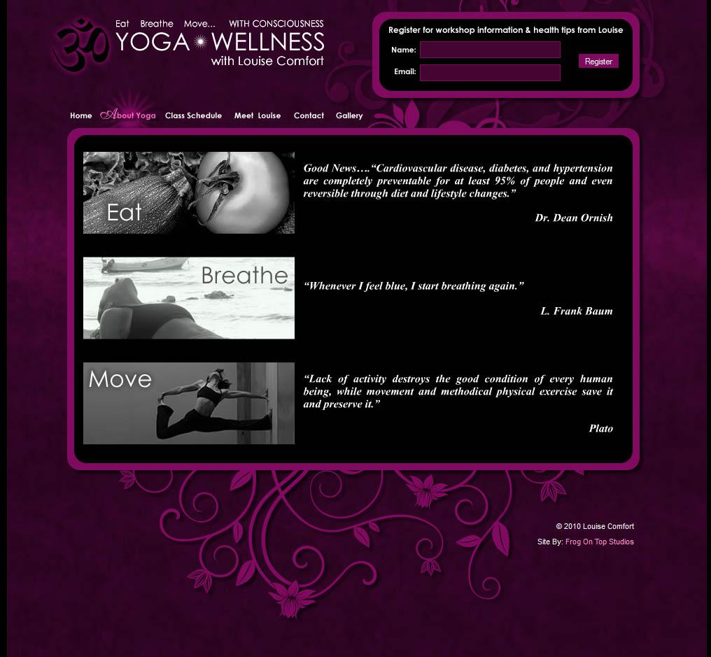 Louise Comfort Yoga Wellness Frog On Topfrog On Top