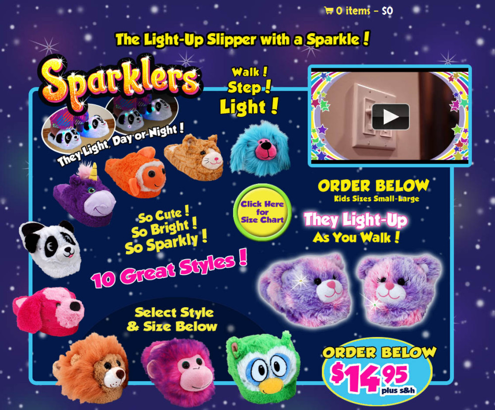 sparklers slippers